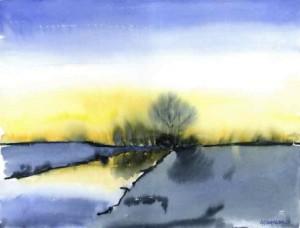 Bild von Winterlandschaft von Horst Oppenhäuser